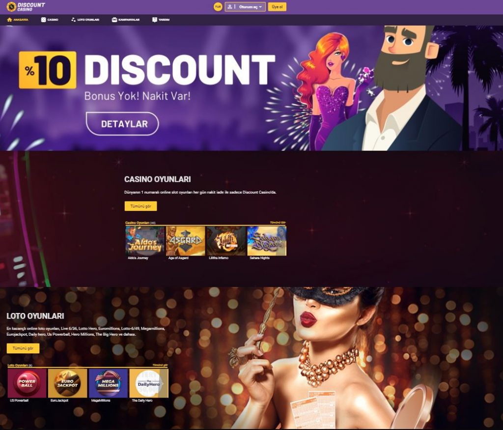 Discount Casino Kayit ve Uyelik